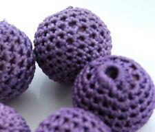 5x 22mm crochet covered beads