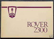 ROVER 2300 i proprietari di auto manuale di manutenzione manuale 1978