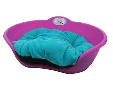 Heavy Duty Fucsia Rosa Animale Domestico Letto Con Cuscino color foglia di tè UK MADE cane o gatto cesto