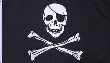 Jolly Roger Skull and Crossbones Pirates Flag