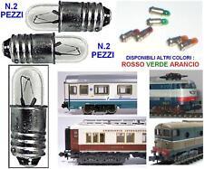SET N.2 MICRO LAMPADA BIANCA E5,5 a VITE 8-12V 65mA mm.4,7 SCALA-N e SCALA-HO