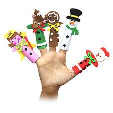 Confezione da 5 Grandi Multicolore Schiuma natale personaggio Finger Puppets