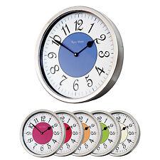 ROCO verre vintage moderne style français lustré tubé Horloge murale
