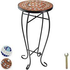 Table de Balcon Tabouret à Fleurs Mosaïque Jardin Terasse Table d'appoint