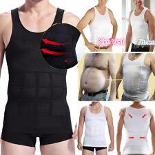 Us Men Slim Fit T-Shirt Body Shapers Vest Compression Tank Top Moobs Lift Corset