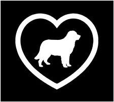 "5"" I LOVE NEWFOUNDLAND HEART DOG ANIMAL VINYL DECAL STICKER CAR WINDOW"