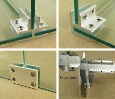 Porte-verre Pince support pour fenêtre balustrade pinces à verre en Aluminium 2-4 voies