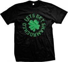 Lets Get Shamrocked Irish Clover St. Patricks Day Drinking Party Mens T-shirt