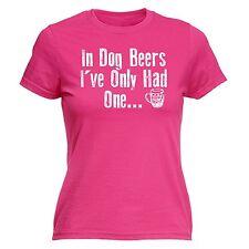 Cane in birre ho avuto solo una linea Donna T-shirt Bere Festa Addio al nubilato regalo di compleanno