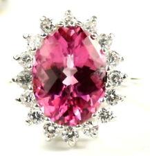 • R310-WG, 12 ct Pure Pink Topaz, 10k White Gold Royal Engagement Ring -Handmade