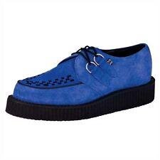 T.U.K. shoes blu elettrico in pelle scamosciata MONDO Basso Creepers a8282