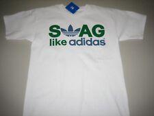 "Adidas Originals ""Swag Like Adidas"" T-Shirt White/Kelly Men's Large XL BNWT"