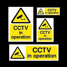 CCTV Firmare, Adesivo-Tutte le Taglie e materiali-sicurezza, Videocamera, Avvertenza, SORRISO