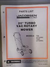 "Homelite Parts List Manual 20"" Turbo Rotary Mower T20 T20P"