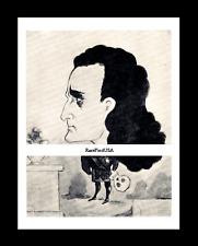 1868-rpt EDWIN BOOTH skull HAMLET Shakespeare Tragedian B'way Caricature MATTED