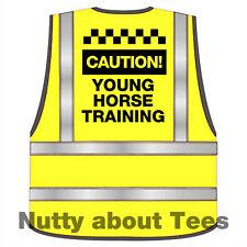Equine Caution Young Horse adults Hi Viz  safety Training waistcoat vest S-xl