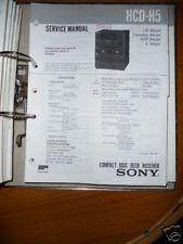 Service-Manual für Sony HCD-H5 HiFi-Anlage, ORIGINAL