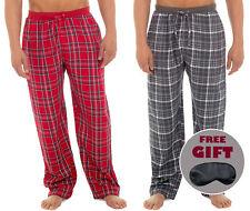 i-Smalls Men's Checked 100% Cotton Pyjama Bottoms Lounge Pants with Eye Mask