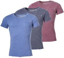 Key Largo T-shirt Tyson con tasca interna Look Vintage strisce trasversali ottica