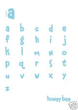 QuicKutz Alphabet  HONEY BEE  CLASSIC ESSENTIAL Unicase