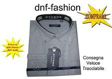Camicia classica uomo Attore manica lunga collo Button down Grigio art 064