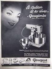 PUBLICITÉ ROBOT ELECTRO CULINAIRE LE GEUGIMIX DE PEUGEOT