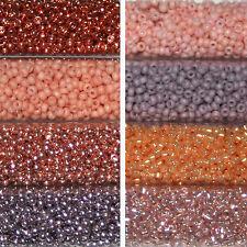 Miyuki Rocailles 11/0 rund 2 mm Nude / Hautfarben / Mauve 5g o 9,9g = 1 Röhrchen