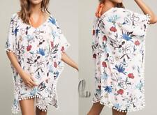 AU SELLER Oversize Chiffon Fringe Kaftan Top Shirt Beach Kimono Cover UP sw061-3
