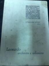LEONARDO DA VINCI ARCHITETTO E URBANISTA STRENNA UTET 1963