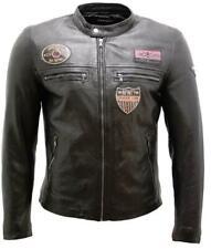 Chaqueta Racer piel napa hombre bagded leather biker jacket Chicago Infinity