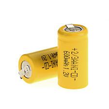 Wholesale 2x 4x 6x 8x Ni-Cd Battery 1.2V 2/3AA 600mAh Rechargeable NiCd Battery