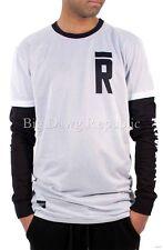 Rocawear Para Hombre Chicos Brooklyn 718 Doble Camisetas De Manga De Hip Hop tiempo el dinero es R 37
