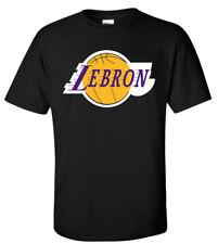 "BLACK Lebron James Los Angeles Lakers ""Logo"" T-Shirt"