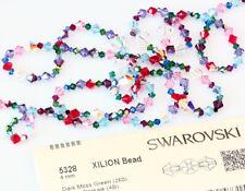 Genuine SWAROVSKI 5328 XILION Bicone Cristalli Perline * molti colori con effetti