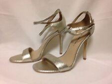 Via Spiga Tiara High Heel Strappy Sandal 6 M Platinum 100% Authentic New w/Box