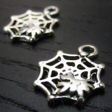 Cobweb Spiderweb Halloween Wholesale Charm Pendants C7166 - 10, 20 Or 50PCs