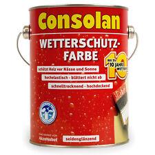 10€/l Consolan Wetterschutzfarbe Farbwahl & Gebinde-Größenwahl BEULE Holzfarbe