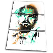 Leonardo DiCaprio Grunge Iconic Celebrities TREBLE TELA parete arte foto stampa