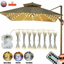 LED Umbrella Lights Patio Parasol Outdoor Garden Fairy Lighting + Remote Control