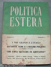 POLITICA ESTERA Anno II n 2 Febbraio 1945 Seconda Guerra Mondiale Storia WWII di