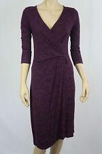 Crossroads Ladies Drape Wrap Dress sizes XSmall Small  Black / Purple Barque