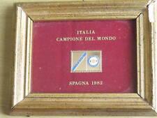 Quadretto FGCI Italia campione mondo calcio 1982 RARO!