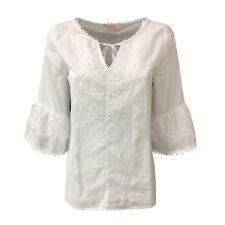 LA FEE MARABOUTEE blusa mujer ecru con encaje mod FB3689 100%algodón