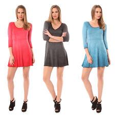 Just Add Sugar Womens Skater Dress 3/4 Sleeve Mini Black Orange Teal RRP $59.95