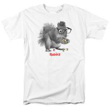 Rubiks Cube Nerd Squirrel Licensed Adult T Shirt