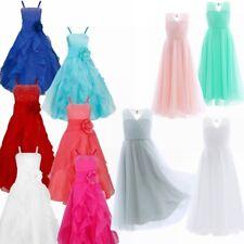 Kid Girl's First Communion Dress Juniors Long Bridesmaid Flower Girl Dresses