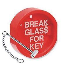 BREAK GLASS KEY BOX HAMMER & CHAIN COVER SIGN FIRE ALARM EMERGENCY NEW DIY