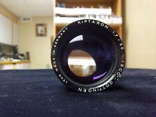ISCO - GOTTINGEN Kiptaron FL 50mm Speed fast F1.7 16mm Projection Lens.