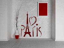 Wall Sticker Paris Eiffel Tower France Love Romantic Travel Europe Decor (z706)
