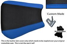 Negro Y Azul Custom 00-01 Fits Yamaha 1000 Yzf R1 real de piel cubierta de asiento